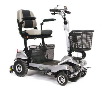 scootmobiel voorzien van andere wielen